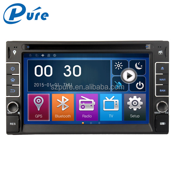 High quality 2 din car stereo 6.2 inch HD touch screen WinCE6.0 car multimedia dvd player with gps /bluetooth