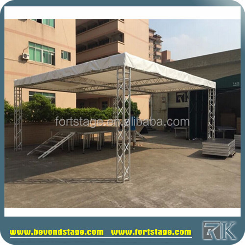 Mobile spigot concert used aluminum roof truss with canvas