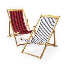 Factory hot sale foldable wooden canvas deck chair