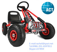 Children Pedal steering knckle Go Kart with solid wheel