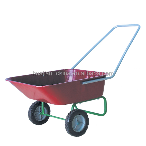 Steel construction with powder coated red finished tray ,agriculture machinery wheelbarrow