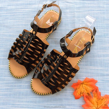 2017 ladies fancy new model fashion low price women slide sandals shoes China wholesale