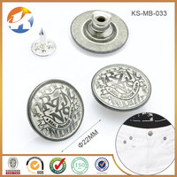 Fashion High Grade Zinc Alloy Custom Shank Buttons