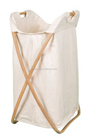 Folding Butterfly Bamboo laundry hamper Natural Bamboo with Machine Washable Cotton Canvas Liner hamper baskets wholesale