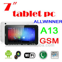 2014 factory cheapest 7 inch A23 dual sim 2G call android tablet pc-I-005