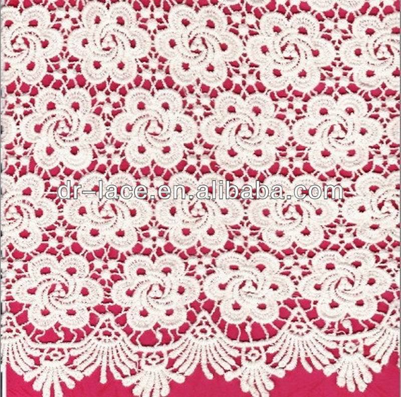 popular african swiss lace fabric 100% <strong>cotton</strong> for dresses