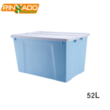 Pinyaoo Storage 52L Household Waterproof Multi Purpose Storage Bin , Plastic Storage Box For Clothes
