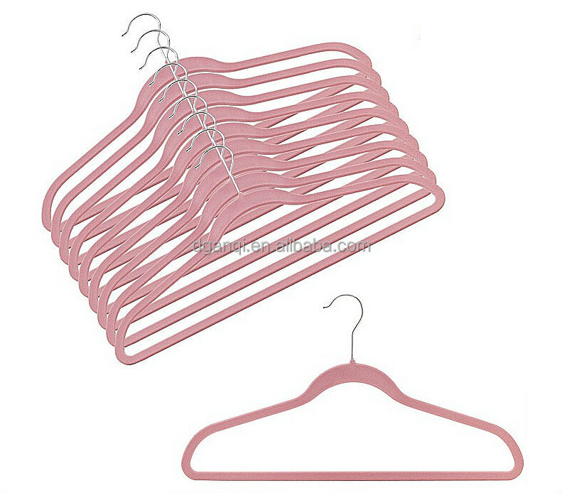 Color Box Ultra Thin Noslip Velvet Hangers Set of 50