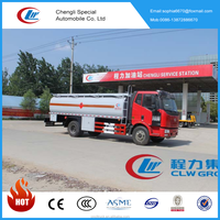 Hot sale FAW fuel tank truck gas refueling truck 15000L oil tanker with cheap price
