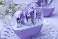 Wholesale Event Party Supplies of Purple Apple 9 in 1 Nail arts Practical cosmetology Manicure Pedicure set