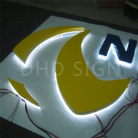 high quality Custom large Wind resistance strong stainless steel Led backlit 3d letter sign with best quality and low price