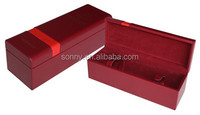 OEM Design Portable Leather Fancy WIne Box