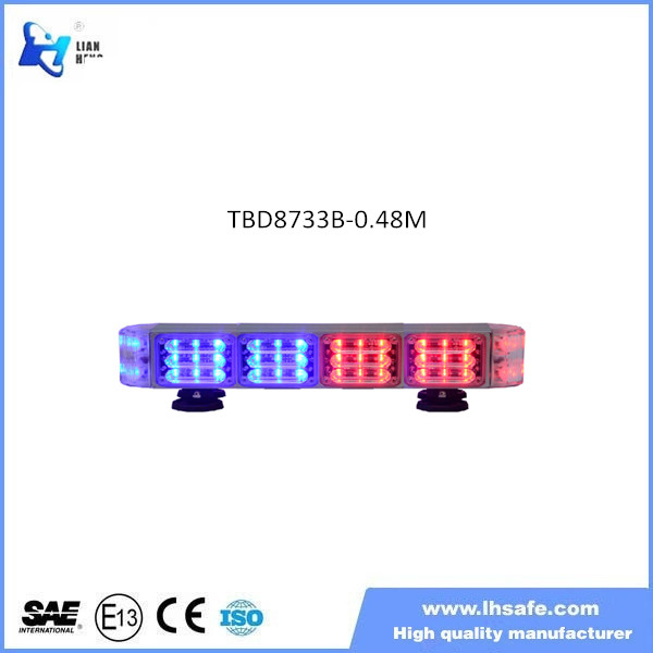 New product Linear Led mini Light bar, red and blue strobe mini light bar for police vehicle, TBD8733-0.48M