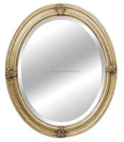 Wood carving oval mirror frame for wall decoration