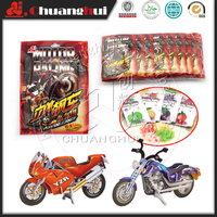 3D Puzzle Motorcycle Candy Toy / Motorcycle Puzzle With Popping Candy