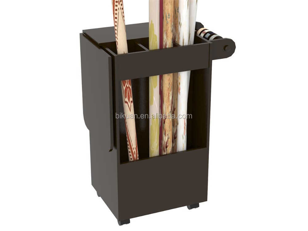 wooden diy craft wooden storage cabinet cart with wheels and folding table