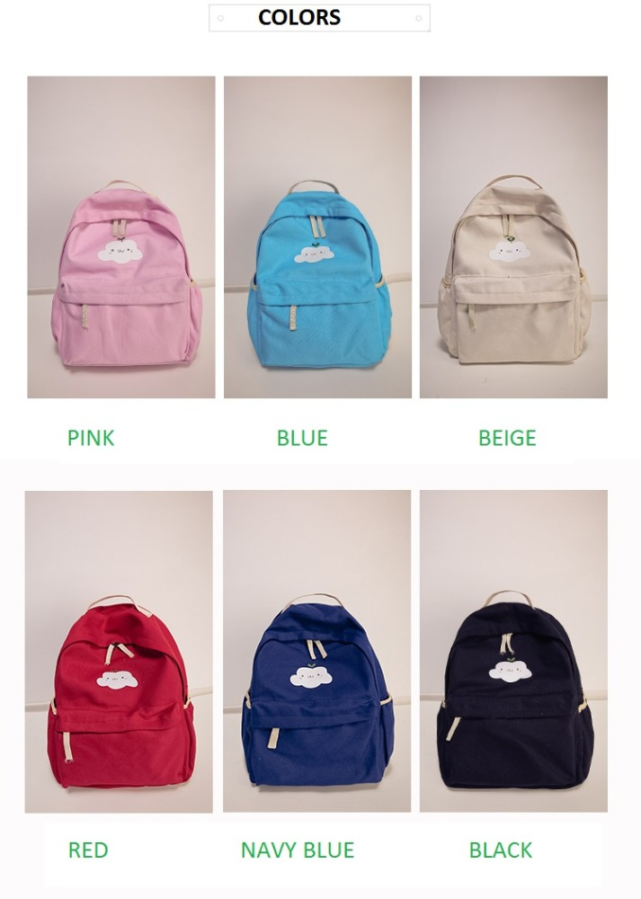Wholesale Vintage Canvas Blank Canvas Backpack Mini Backpack for Kids