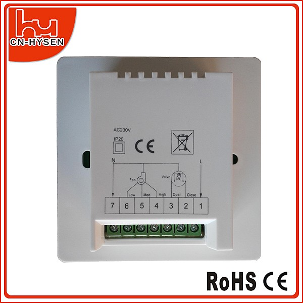 HY03AC LCD Digital Large Screen Touch Modbus Room Thermostat