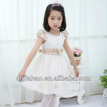 HOT! 2013 high quality fairy princess satin flower waist kids frocks designs for children