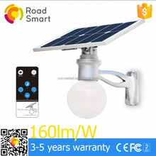 2017 high quality manufacturer solar garden street light price list with 5 years warranty and remote control