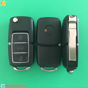 High quality waterproof material folding remote control key shell for vw car