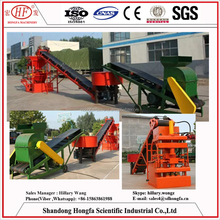 HF1-10 Cheap simple factory directly supply clay brick moulding machine / vacuum extruder for sale