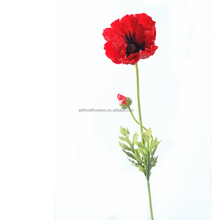 red color artificial plastic flower poppy for sale