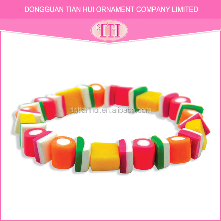 Biggest factory hot selling resin handmade ladies candy bracelet charms accessories