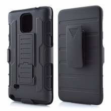A lot stock Future Armor Hybrid Case 3 in 1 Combo Cover For Galaxy Note 4 S4 Stand Case with Belt Clip