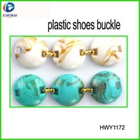 Strips plastic shoe charms with blue beads chain for hot sell shoes