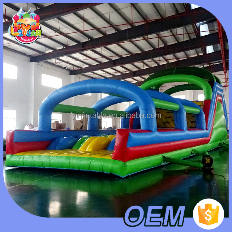 2017 Popular Outdoor Playground Equipment Custom Stirring Adults 5K Inflatable Obstacle Course