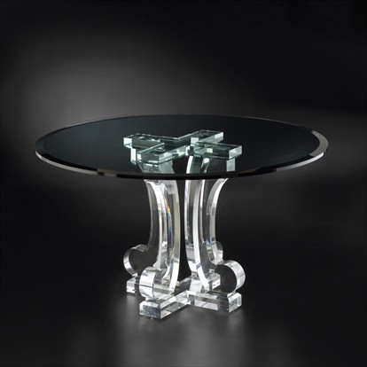 Clear Acrylic Game Table Pedestal Transparent Perspex Table Legs