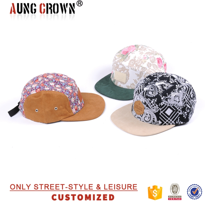 Wholesale 5 Panel Floral Camp Hats Caps Hawaii Flowers