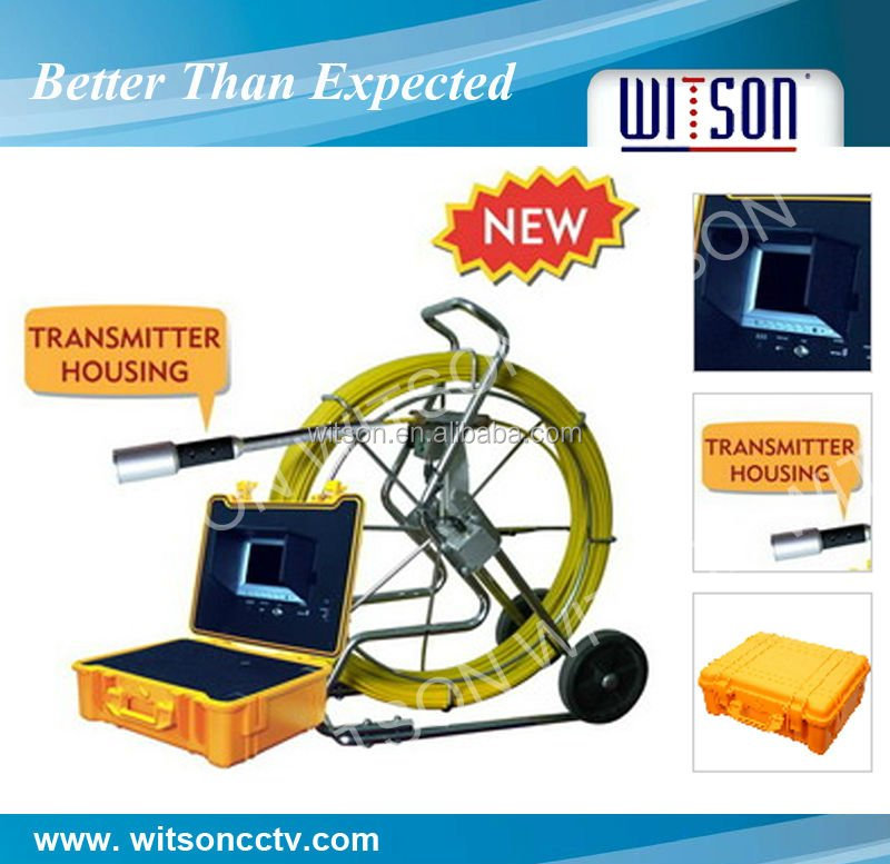 WITSON underwater well inspection camera with 120m fiberglass Cables