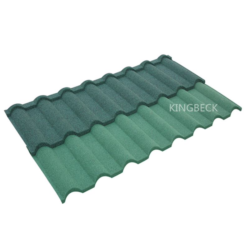 colored granules roofing stone coated steel tile
