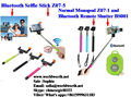 Essentialz Wireless Bluetooth Selfie Stick With KC CE Rohs Cerfitication For Smarthone Android IOS Phone