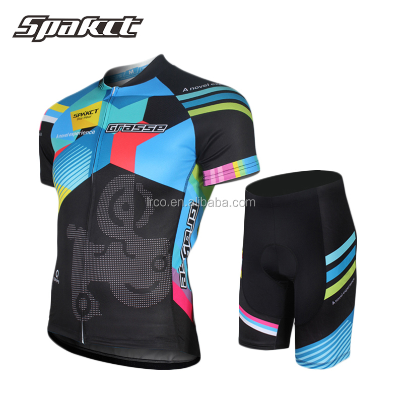 Spakct classic cycling jersey and short design factory wholesale men mtb team jersey and short