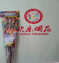 3'' 1.3G Rocket Fireworks bottle from Chinese factory assorted peony UN0335 fireworks rockets for Christmas & new year