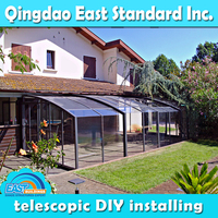 East Standard retractable used residential glass sunroom