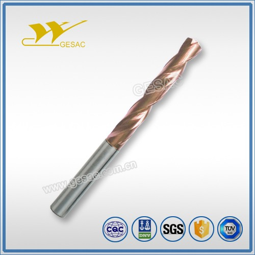 5D External Coolant Tungsten Carbide Twist Drills Bits for Cast Iron Machining