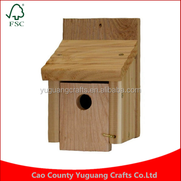 Ourdoor chinese bird house Custom Feeder Handcrafted Manufacture Wholesale Rustic Wooden Cedar Wren Bird House Cages