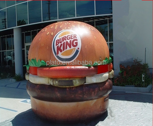 Giant advertising cheeseburger model / inflatable burger food shape for sale