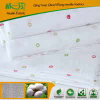 100% cotton and 100% polyester cotton weave baby blanket fabric
