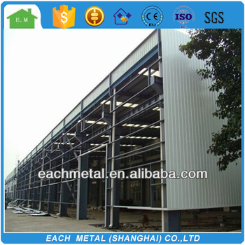 high quality galvanized steel structure warehouse and building