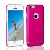 unique design 2 in 1 aluminum tpu fancy mobile back covers for iphone 6 case