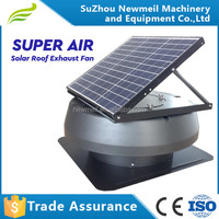 Factory supply SuperAir 12w 24v top roof solar panel fans attic exhaust fan for sale