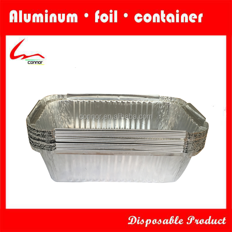 Hot Sale Rectangle Aluminium Foil Container Manufacture for Roster/Loaf