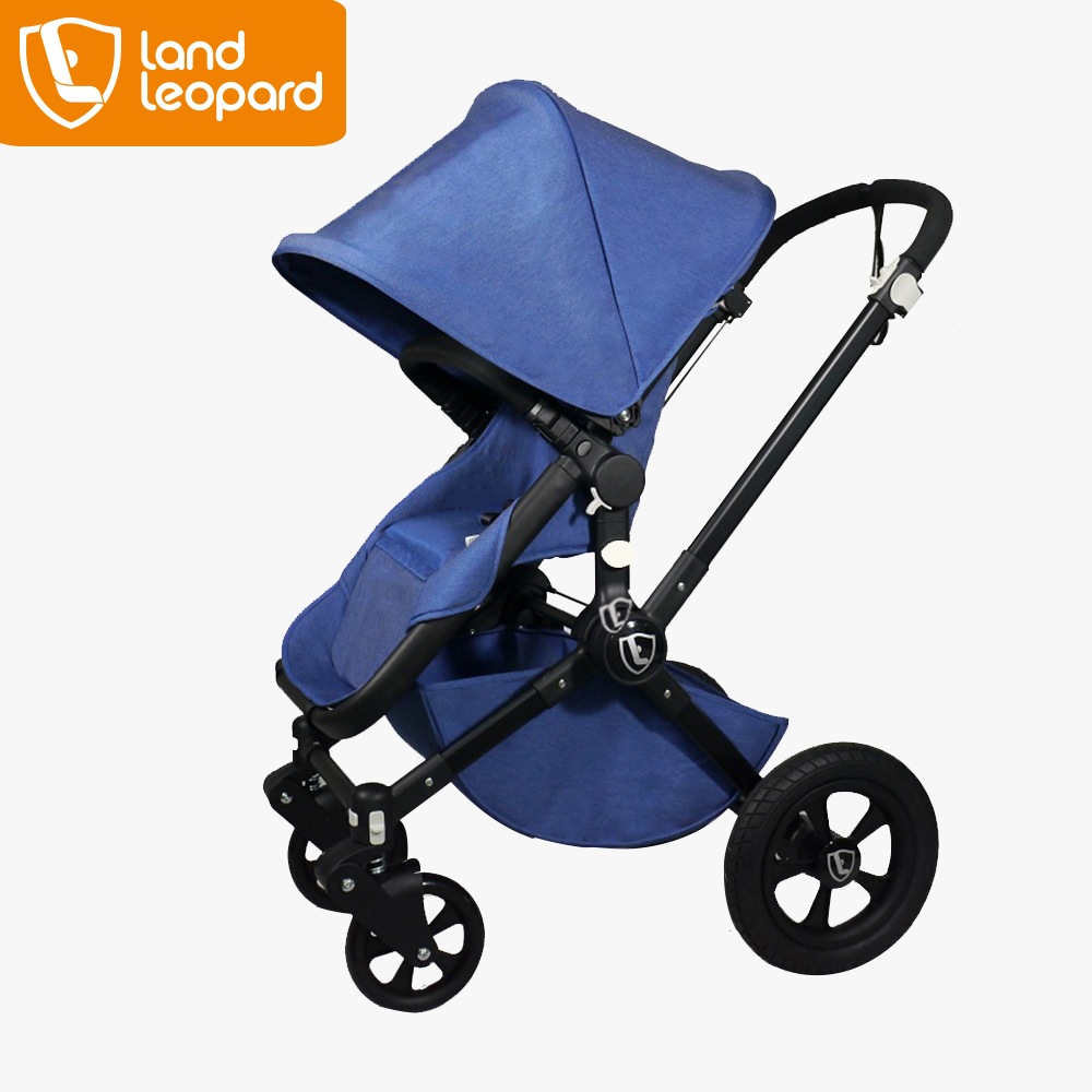 2016 good Land Leopard baby strollers for kids under 36 months with 25 cm superb big diameter rear wheels and light weight tube