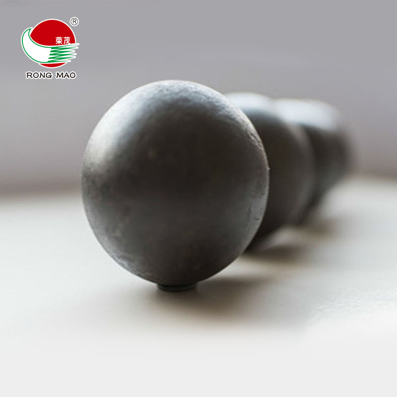Diameter 10mm forged iron grinding media balls with Rongmao Brand