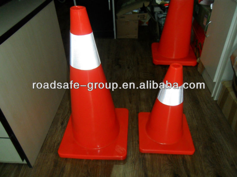 Orange &Red telescopic traffic cone